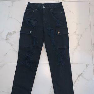 Carmar black denim jeans- size 26- only worn once